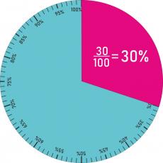 Prozentkreis - Prozentscheibe