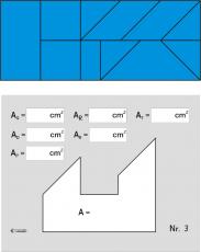 Flächenberechnung zusammengesetzter Flächen - Schülerset