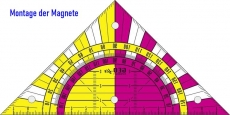 Magnetset für Wandtafel-Geodreiecke