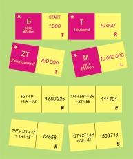 Mit großen Zahlen bis Billionen umgehen - Domino