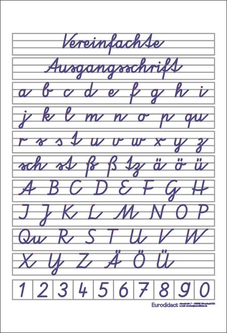 vereinfachte ausgangsschrift