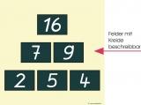 Übungstafel Zahlenmauer 3-2-1