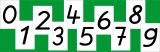Ziffernkärtchen: Set von 0 bis 9