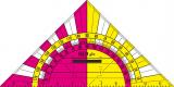 Wandtafel Geo-fix, 60 cm, Skalen schwarz