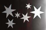 Reflektierende Sterne aus Magnetfolie, 6er-Set