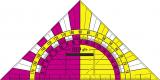 Wandtafel Geo-fix, 80 cm, Skalen schwarz